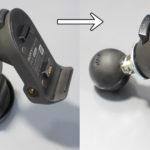 SONYのカーナビNV-U35をRAMマウントを使いバイクに固定