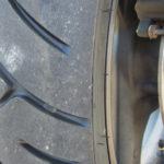 8の字でCB400SFタイヤの皮むき