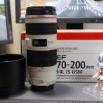 ヤフオクでEF70-200mm F4L IS USMを落札!