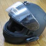 GoProマウントをヘルメットの頭に貼ってみた