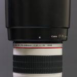 EF70-200mm F4L IS USM 付けにくいレンズフードの改良