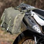 ミリタリーバッグをバイクのサイドバッグとして使ってみた